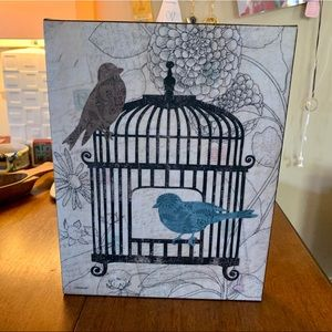 Canvas Wall Art, great condition, birds & flowers